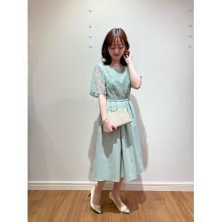 ♡チュール刺繍フレアスリーブドレス♡