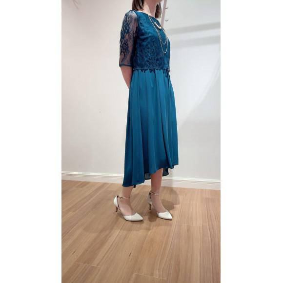 レーストップス×テールスカートドレス