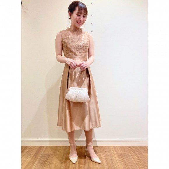 ♡リリアンテープ刺繍サテンドレス♡