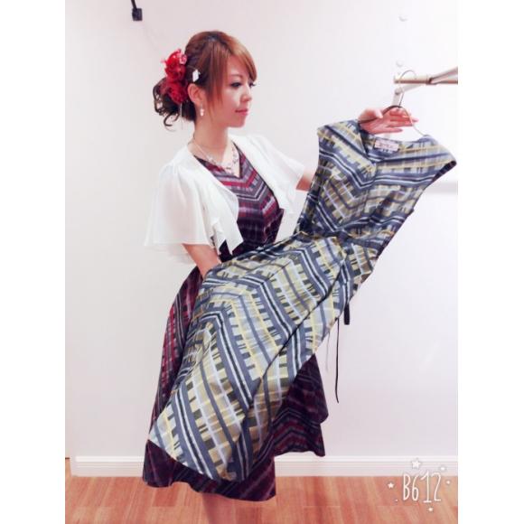 オリジナルチェック柄ドレス