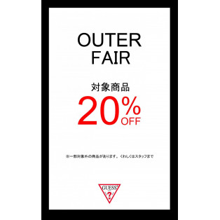 BLACK FRIDAY OUTER 20%OFF