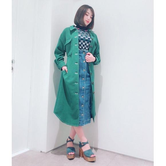 ニット×スカート¥11,000♡新作コート