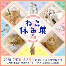 【7/17(金)~開催決定!】「ねこ休み展 in 静岡」