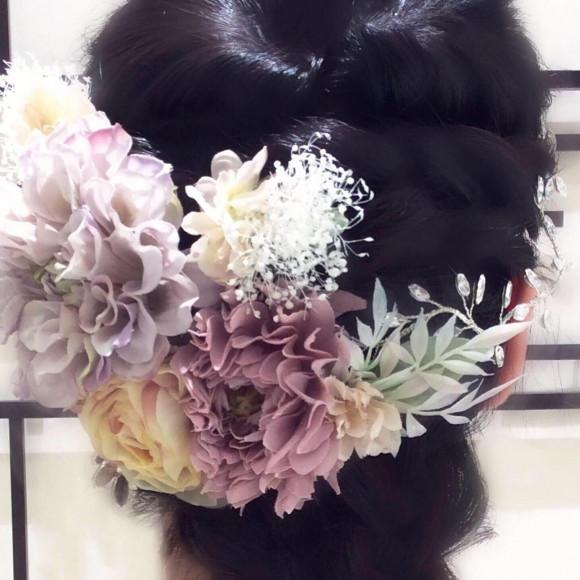 ニュアンスカラーのお花を纏う♡6個セットコサージュ