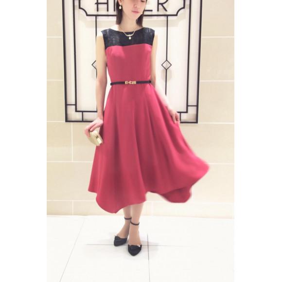 【SALE】裾まわりがワンポイント☆着るだけでオシャレ度アップの人気ドレス!!