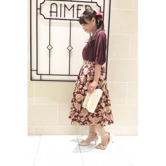 ジャガードの花柄が目を惹く♡ 新作ドレスのご紹介