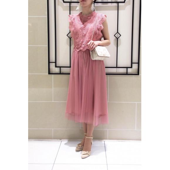 【NEW arrival!】レース×チュールのドラマティックなドレス♡