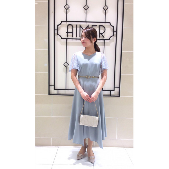 【New】優雅なフレアシルエットドレス♡
