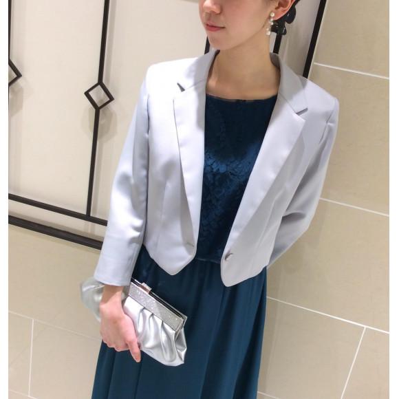 袖付きドレス×羽織物【フォーマルマナー】