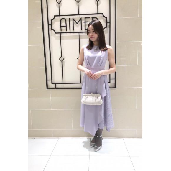 【新作】アシンメトリーレースドレス