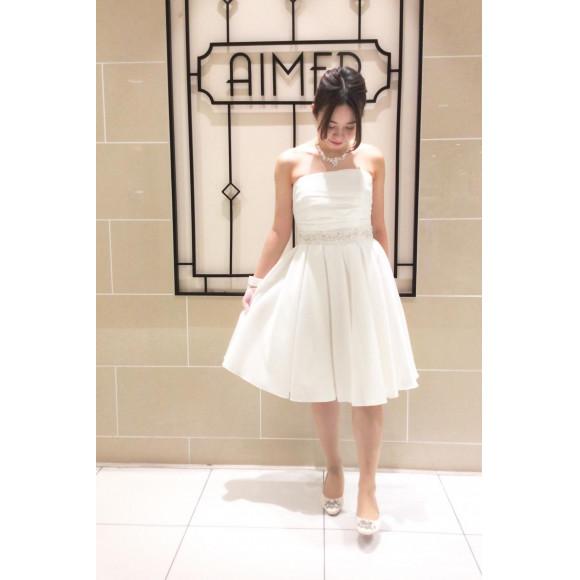 【フレアシルエット】 2次会用の白ドレス のご紹介✨ (3/31まで10%OFF)