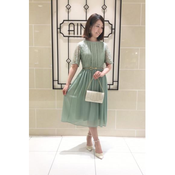 【Early Summer Faire開催中☆】袖付きミントグリーンのドレス