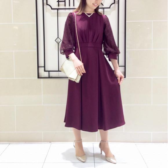 新作ドレスのご紹介 ♪ 【美シルエット / 袖付きドレス】
