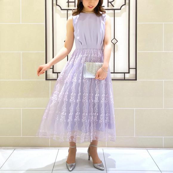 成人式のドレスアップにおすすめ✳︎ ふんわりレースドレス