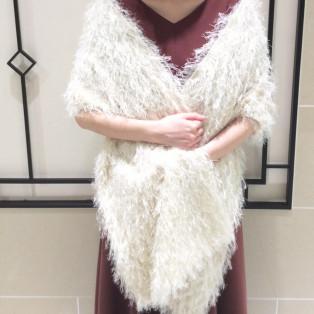 【ストール】肌寒いドレス姿でも、暖かく・気品よく✨