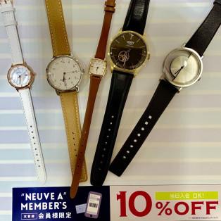 【店内腕時計10%OFF!!】 NAメンバーズフェスタ開催中! 【終了間近】