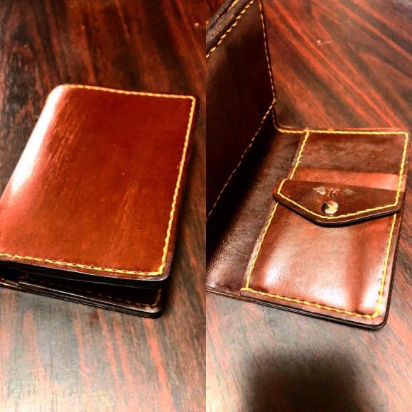 クリスマスプレゼントに手縫いの財布