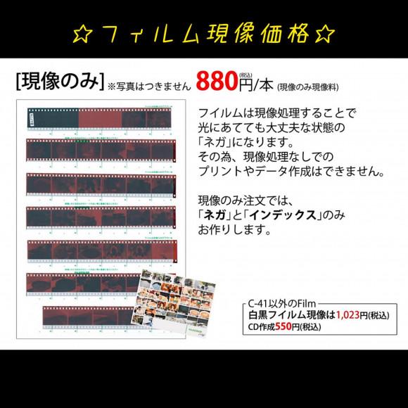 ☆フィルム現像価格☆