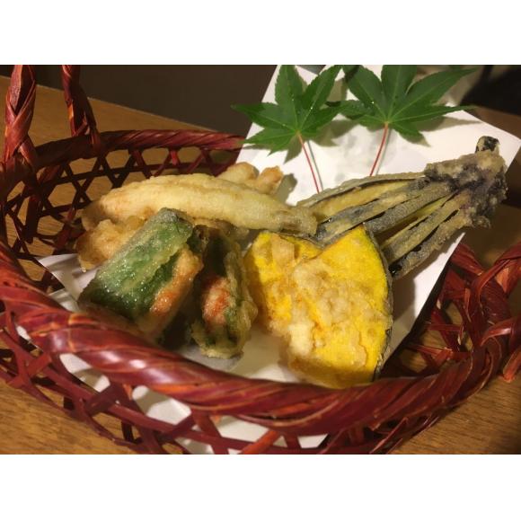 穴子と夏野菜天ぷら
