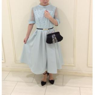 成人式のもおすすめ☆袖付きドレス