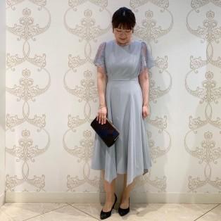袖フレアレースドレス♡