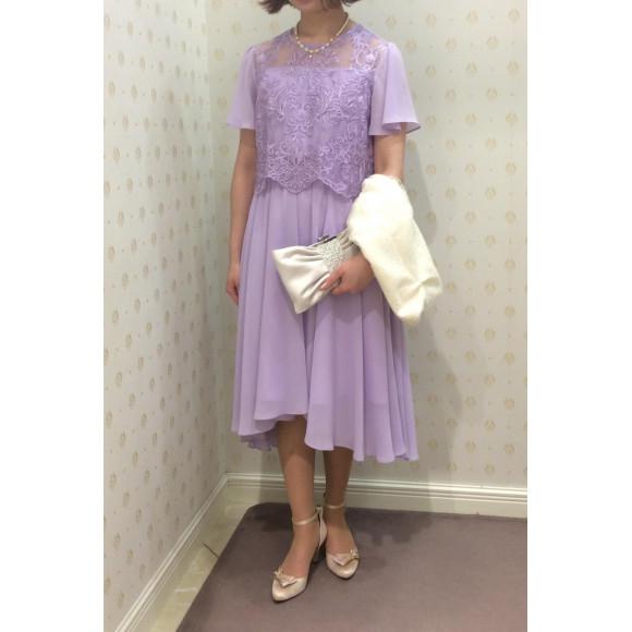 フェミニンな雰囲気で♡テールカットドレス