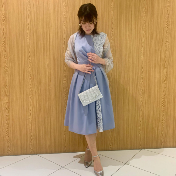 サテン×レースのドッキングドレス♡