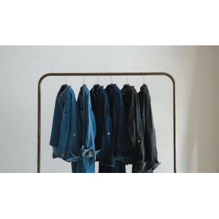 BLANC basque パールボタンデニムシャツ