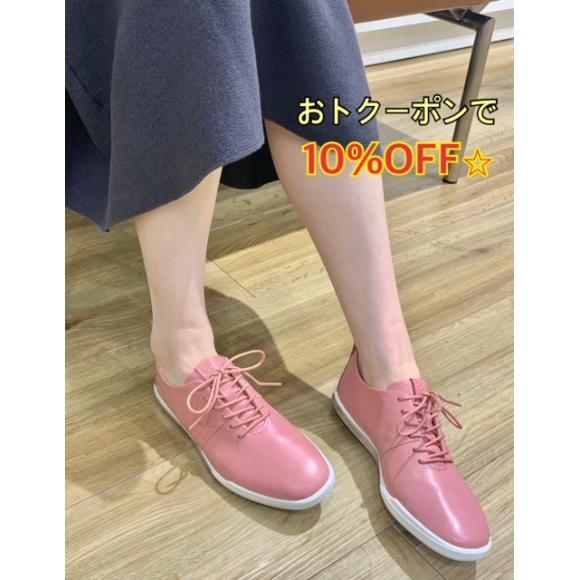 大人ピンクのすっきりシューズ☆