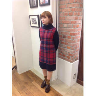 ☆TARTAN KNIT DRESS☆