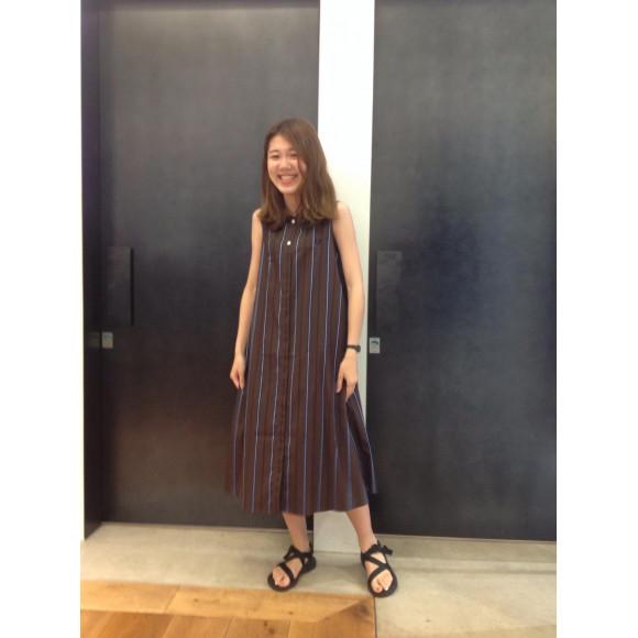 ☆RIB COLLAR SHIRT DRESS☆