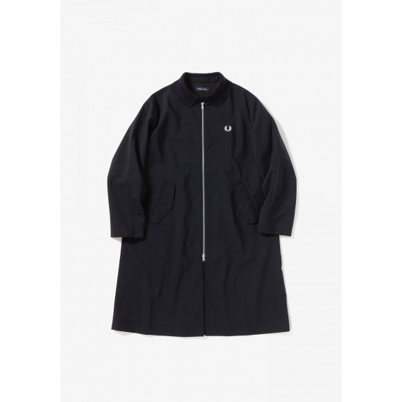 RIBBED COLLAR OVER COAT