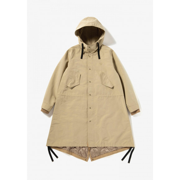 MIX PANEL FISHTAIL PARKA