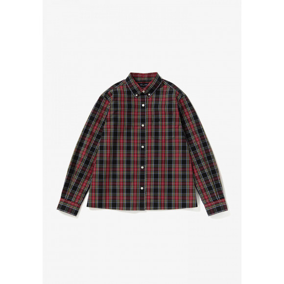 BACK TAPED TARTAN SHIRT