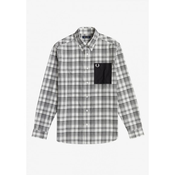 MONOCHROME CHECK PATCH POCKET SHIRT