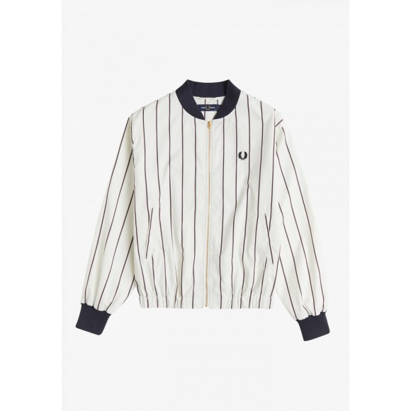 STRIPED BATWING BOMBER JACKET