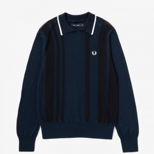 STRIPE KNITTED POLO