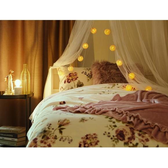 水彩調のフラワーデザインの寝具カバー