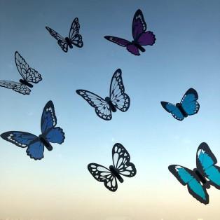 綺麗な羽で舞う♪蝶の立体ウォールステッカー