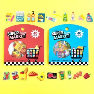 お買い物してる気分になれるスーパーマーケットフレークシール♪