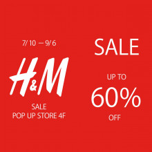4F H&M POPUP SHOP 7/10(金) NEW OPEN!