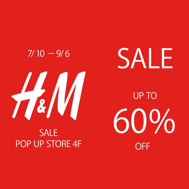 H&M POP UP SHOP オープン